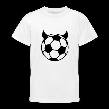 White Soccer Ball Devil Kids' Shirts