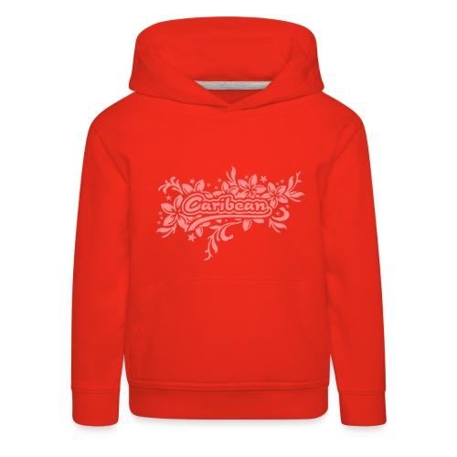 roter Kinder-Kapuzenpullover Caribean - Kinder Premium Hoodie