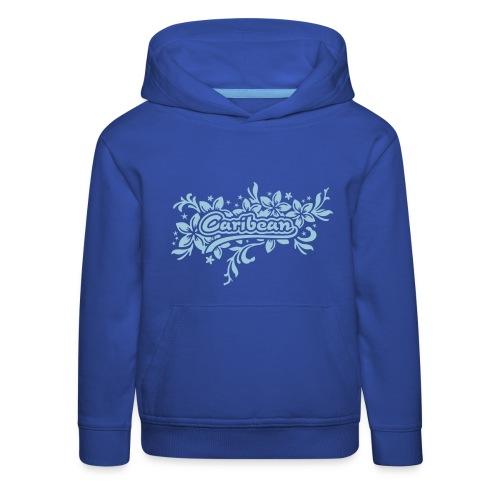 blauer Kinder-Kapuzenpullover Caribean - Kinder Premium Hoodie
