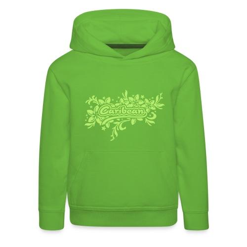 grüner Kinder-Kapuzenpullover Caribean - Kinder Premium Hoodie