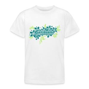 weisses Kinder-T-Shirt Caribean - Teenager T-Shirt