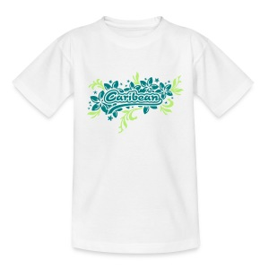 weisses Kinder-T-Shirt Caribean - Teenager T-Shirt