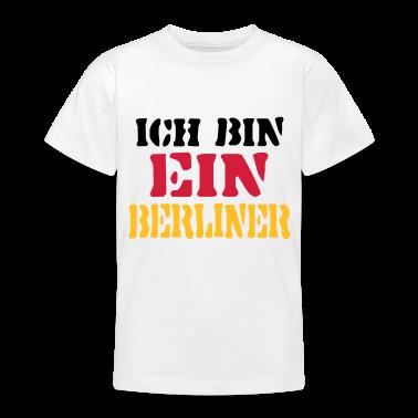 Weiß Ich bin ein Berliner / Deutschland - eushirt.com Kinder T-Shirts