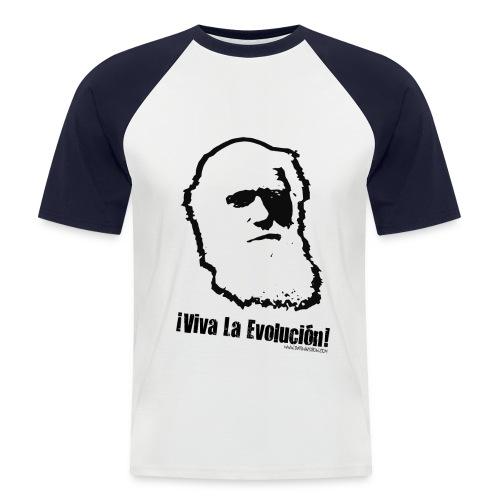Darwin Viva La Evolucion! baseball tee - Men's Baseball T-Shirt