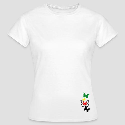 Tee shirt classique Femme papillon Rasta - T-shirt Femme