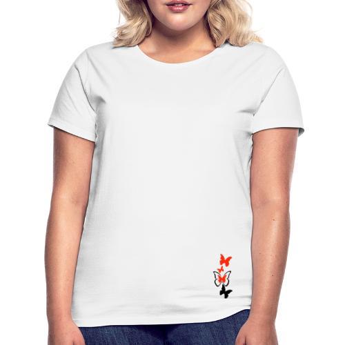 Tee shirt classique Femme papillon - T-shirt Femme