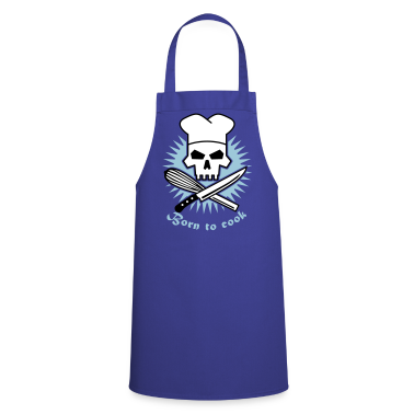 Royal blue born_to_cook_3c  Aprons