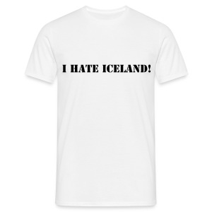 I Hate Iceland!  Men's T-Shirt - Men's T-Shirt