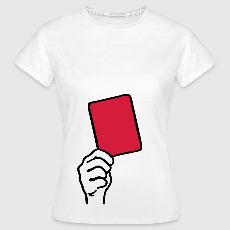 White Soccer - Red Card Women's T-Shirts - Women's T-Shirt