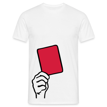 White Soccer - Red Card Men's T-Shirts