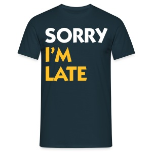 Navy Sorry I'm Late (2c) Men's T-Shirts - Men's T-Shirt