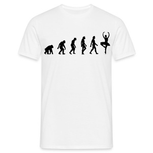 White Ballerina Evolution (1c) Men's T-Shirts - Men's T-Shirt