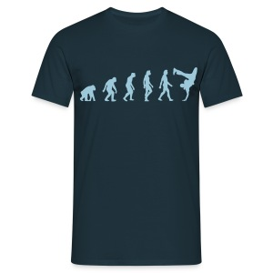 Navy Breakdancer Evolution (1c) Men's T-Shirts - Men's T-Shirt