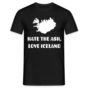 HATE THE ASH, LOVE ICELAND - Men's T-Shirt