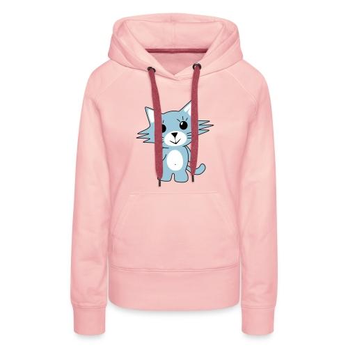 Sweat-shirt à capuche Premium pour femmes - adorable,chat,chaton,fille,kit,kiti,kitoo,kitou,kitten,kitti,kittoo,ligne,shirt,sweat,sweatshirt,vetements