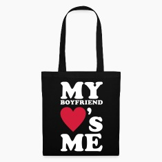 Black MY BOYFRIEND LOVES ME Bags