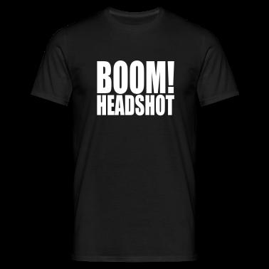 Black BOOM headshot Men's T-Shirts