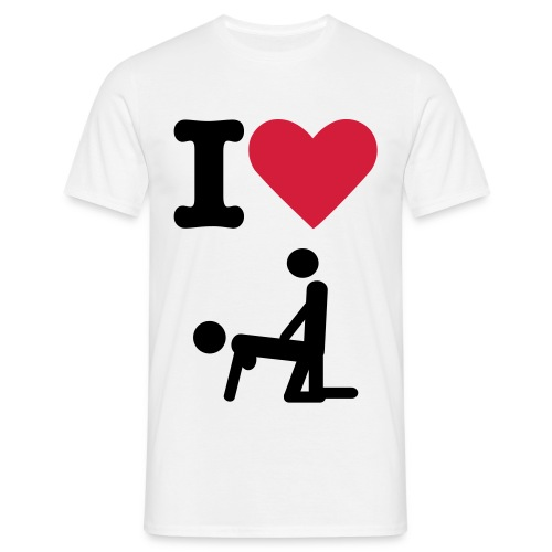 I love fuck - T-shirt Homme
