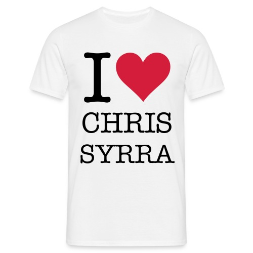 I ♥ Chris syrra - T-shirt herr
