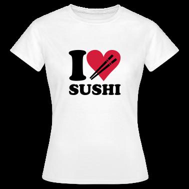 White Sushi - I love sushi Women's T-Shirts