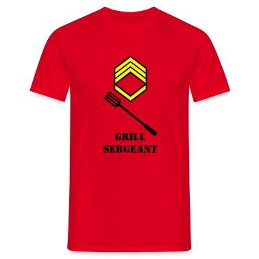 Red grill sergeant (2c) Men's T-Shirts