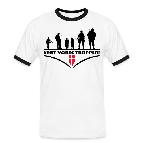 Støt Vore Tropper - Herre kontrast-T-shirt