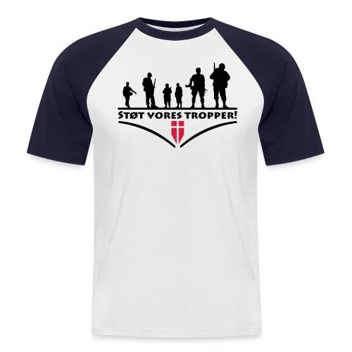 Støt Vore Tropper - Kortærmet herre-baseballshirt