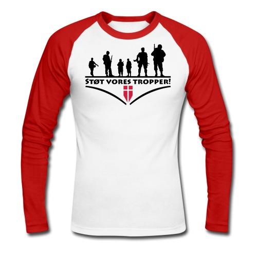 Støt Vore Tropper - Langærmet herre-baseballshirt