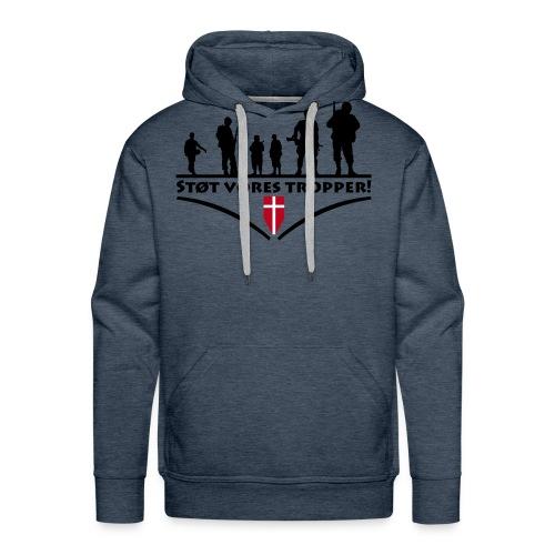 Støt Vore Tropper - Herre Premium hættetrøje