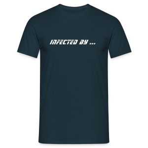 Infected by ... Hardstyle virus (navy 1) - T-shirt Homme