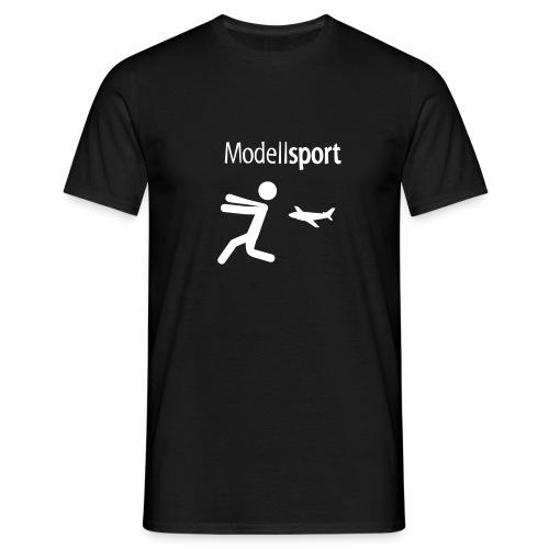 Modellsport + Vereinlogo - Männer T-Shirt