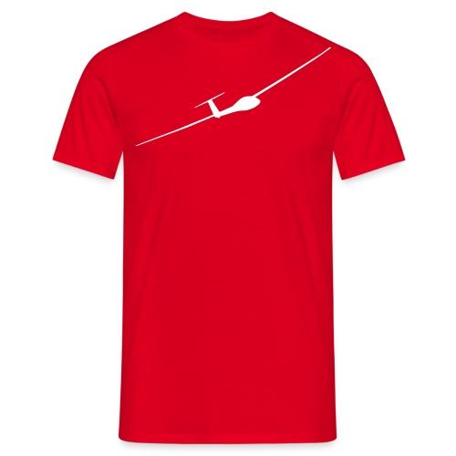 Segelflieger weiß +Vereinlogo (Rücken) - Männer T-Shirt