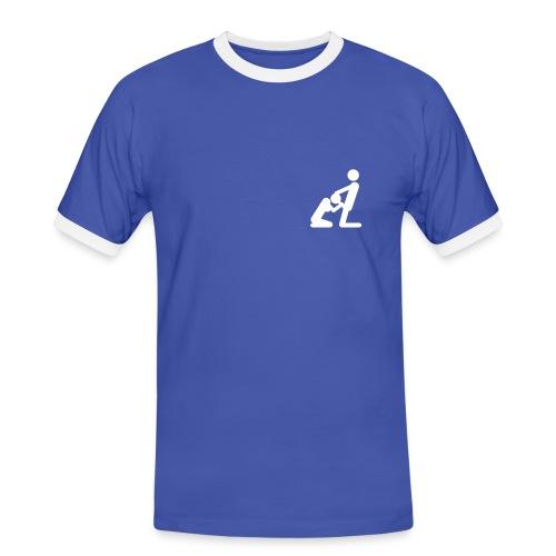 Plain Top with logo - Men's Ringer Shirt