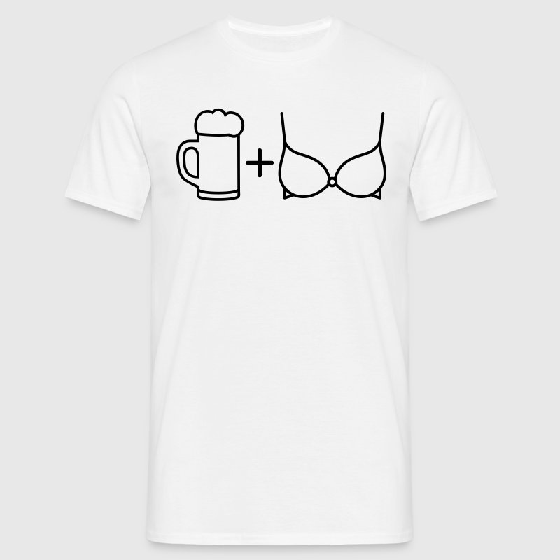Beer and Boobs - Men's T-Shirt