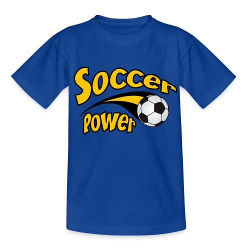 T-shirt soccer power - Teenage T-Shirt