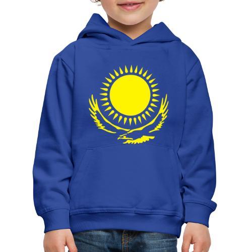 Детский пуловер с капюшоном Казахстан Flockdruck! - Kinder Premium Hoodie