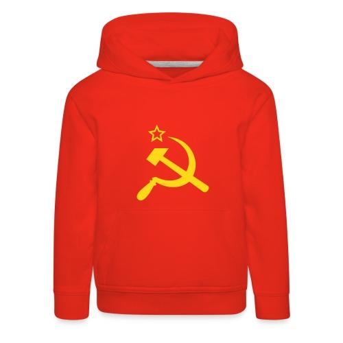 Детский пуловер с капюшоном Серп и молот Flockdruck! - Kinder Premium Hoodie