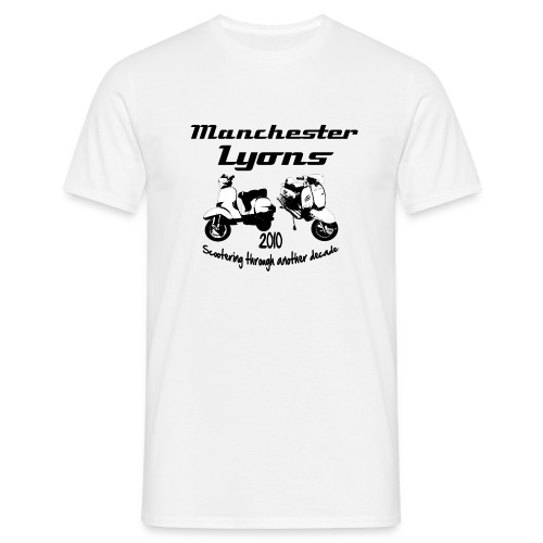 Manchester Lyons  2010 Scootering through another decade - Men's T-Shirt