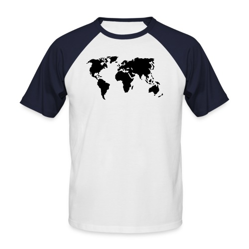 Camiseta moderna masculino Estilo Mundo - Camiseta béisbol manga corta hombre