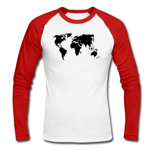 Camiseta larga moderna masculino Estilo Mundo  - Raglán manga larga hombre