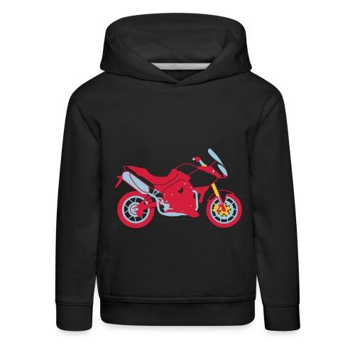 genser med motorsykkel - Premium Barne-hettegenser