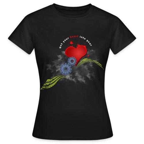 Cycling, get your heart into gear long sleeve t-shirt - Women's T-Shirt