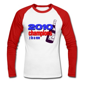 2010 Champions - Men's Long Sleeve Baseball T-Shirt
