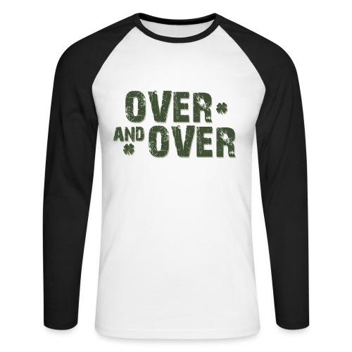 Over & Over - Men's Long Sleeve Baseball T-Shirt