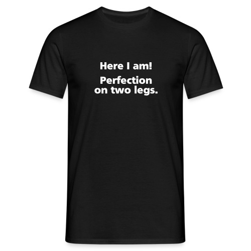 MENS SIMPLE: Perfection on two legs - Men's T-Shirt