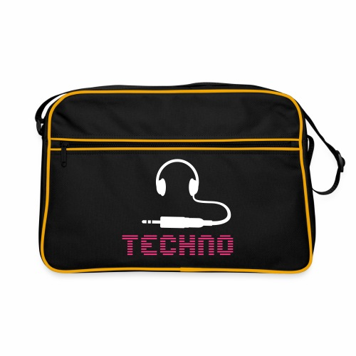 Techno Headphone Stecker - Retro Tasche
