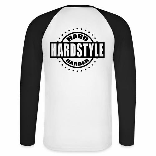 Hard Hardstyle Harder - Männer Baseballshirt langarm