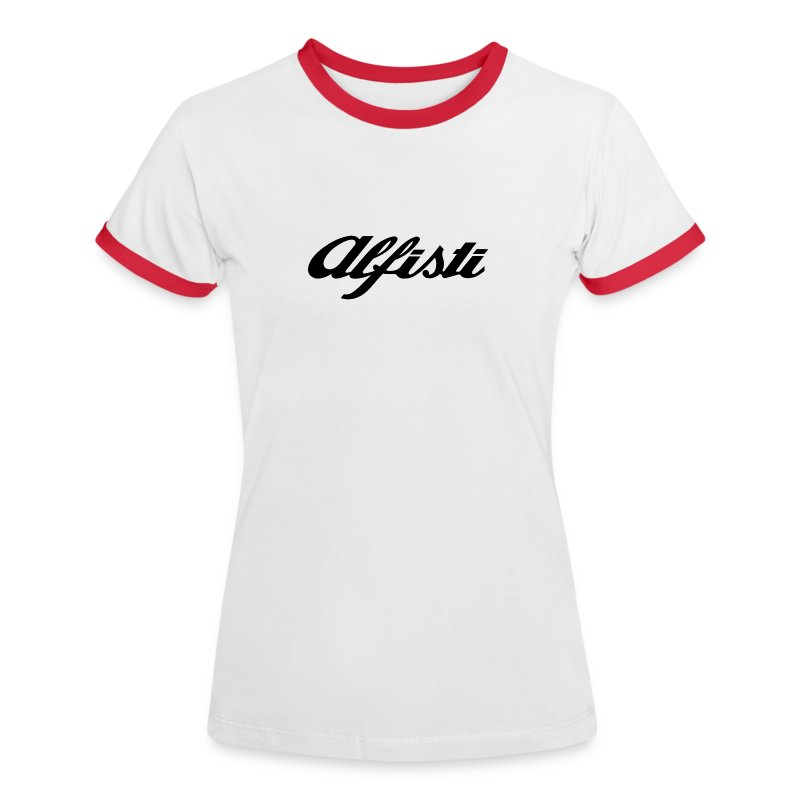 Alfisti Ladies Short Sleeve top - Red Piping - Women's Ringer T-Shirt