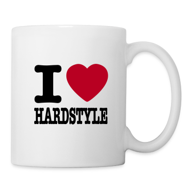 White I love hardstyle / I heart hardstyle Mugs