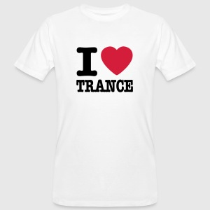 White I love trance / I heart trance Men - Men's Organic T-shirt